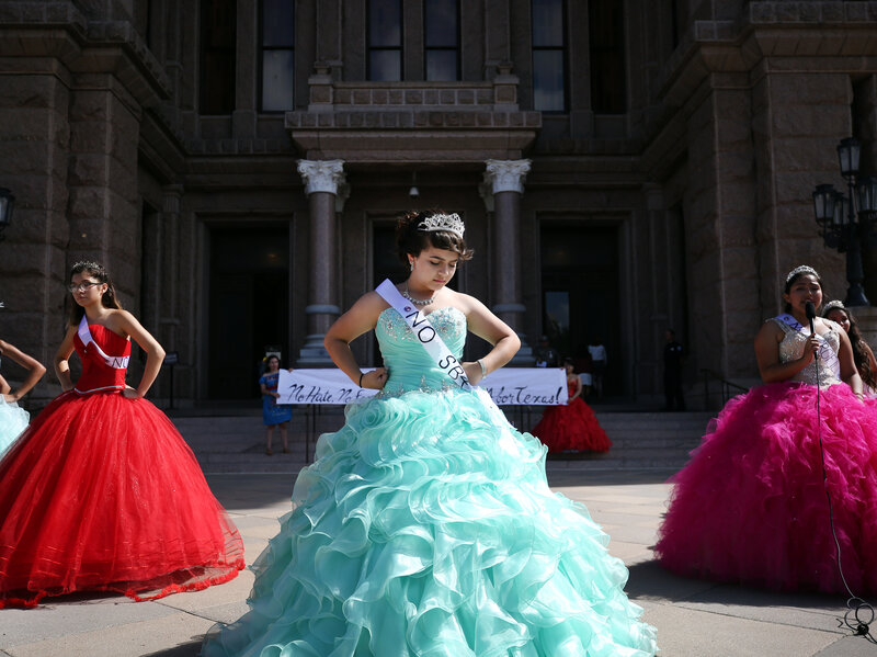 With Speeches And Bright Dresses, Quinceañeras Protest Texas ...