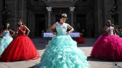 With Speeches And Bright Dresses, Quinceañeras Protest Texas Sanctuary City Ban