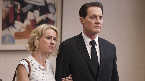 Janey-E Jones (Naomi Watts) and Dale Cooper (Kyle MacLachlan) Twin Peaks.