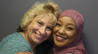 Dawn Sahr (left) and Asma Jama met for the first time at StoryCorps. In October 2015, Sahr's sister physically attacked Jama at a restaurant in Minnesota. Afterward, Sahr reached out to Jama to make sure she was OK and to offer her support.