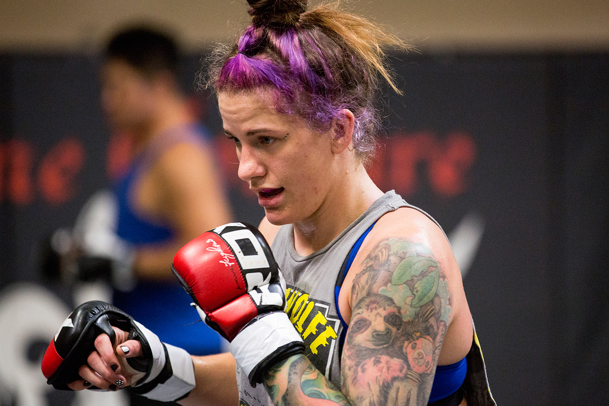 Mazany is one of 60 female fighters and 700 male fighters enrolled in a Cleveland Clinic study that's delving into how concussions might differ between women and men. (Bridget Bennett/For NPR)