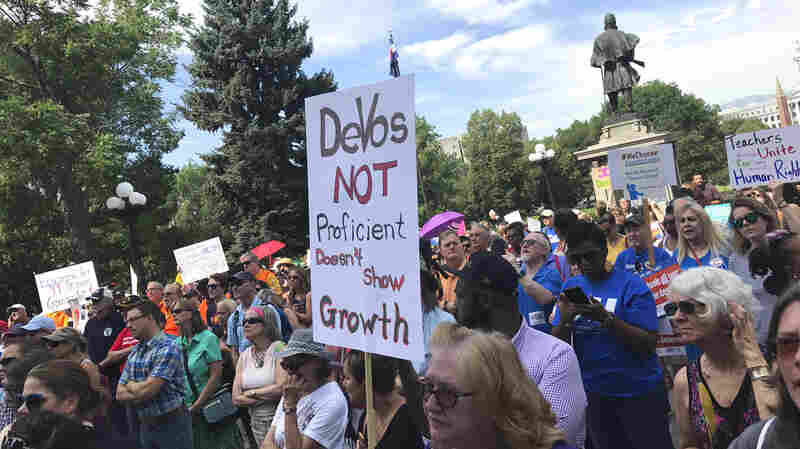 DeVos Protests In Denver; House To Make Cuts To Education