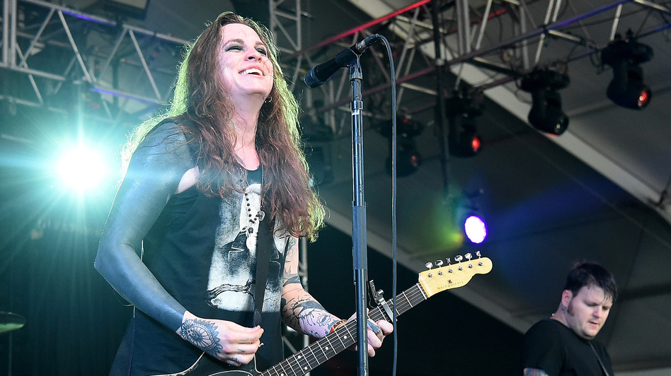 Against Me! performs at the Bonnaroo Music & Arts Festival Manchester, Tenn., in 2015.