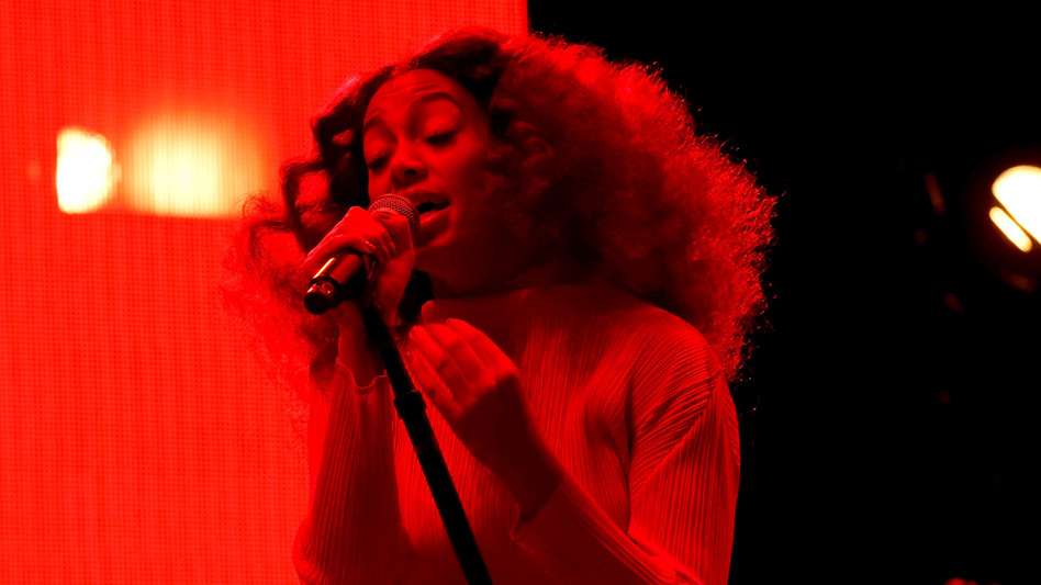 Solange Knowles performs at the 2017 ESSENCE Festival in New Orleans, La.