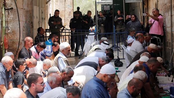 Tensions Spike In Jerusalem's Old City Over Metal Detectors At Muslim Shrine