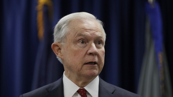 Attorney General Jeff Sessions speaks at the U.S. Attorney