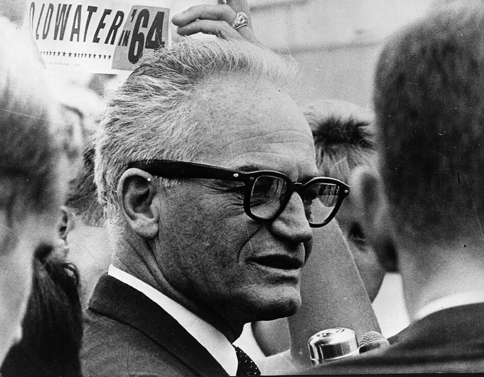 """""""The Goldwater Rule"""" was implemented in 1973, preventing psychiatrists from making armchair diagnoses, after Barry Goldwater, the Republican nominee for president, successfully sued a magazine that published an article doubting his sanity. (Keystone/Getty Images)"""