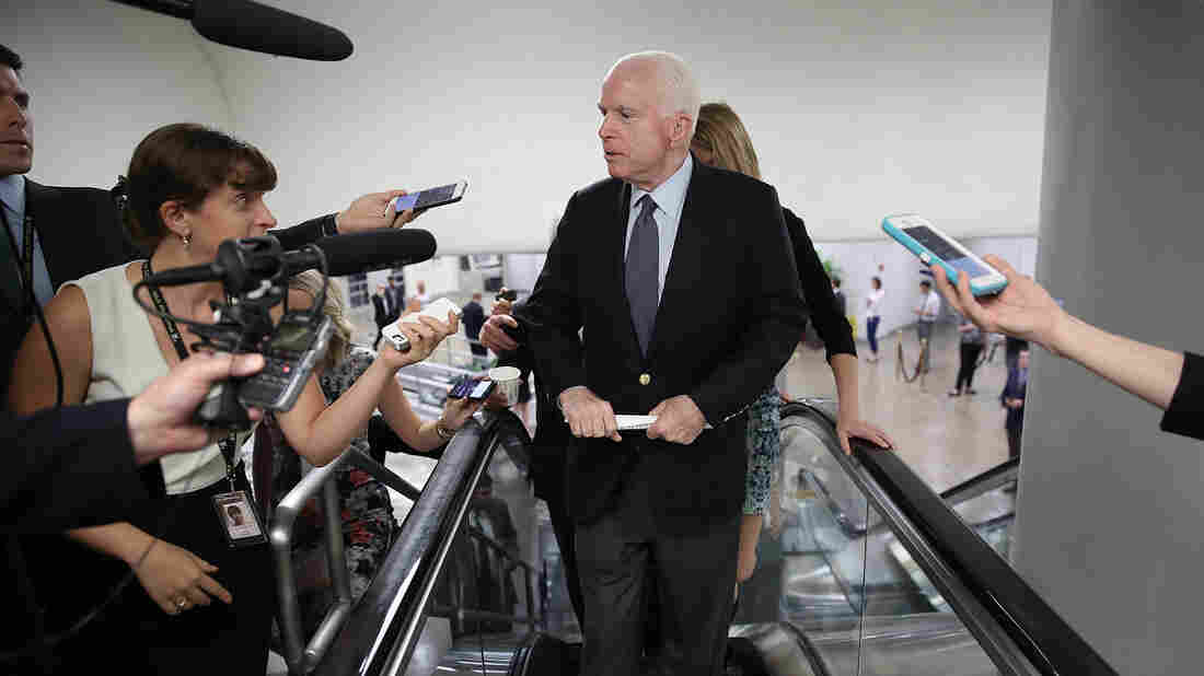 McCain speaks to principles then votes against them