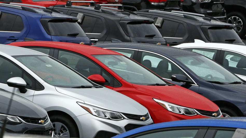 Cars on a dealer lot in Pittsburgh. Consumer spending helped drive economic growth in the 2nd quarter to more than double first quarter GDP. (Gene J. Puskar/AP)