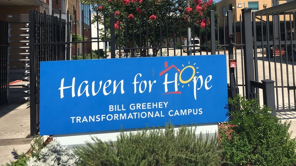 The Haven for Hope, a homeless shelter in San Antonio, is one of dozens of locations around 20 South Texas counties where people are now being tested for latent tuberculosis infections.
