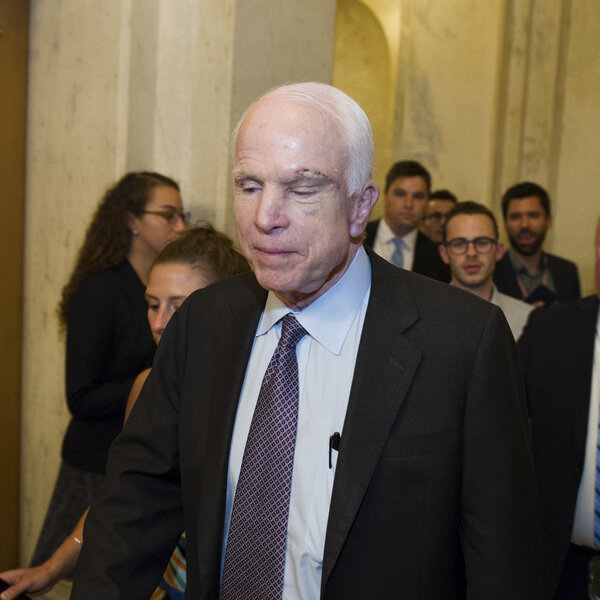 McCain Votes No, Dealing Potential Death Blow To Republican Health Care Efforts