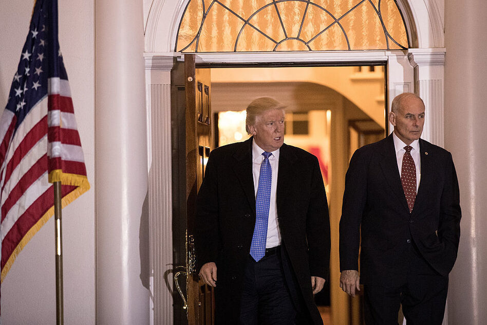 In a tweet Friday evening, President Trump named John Kelly, secretary of homeland security, as his new chief of staff. (Drew Angerer/Getty Images)