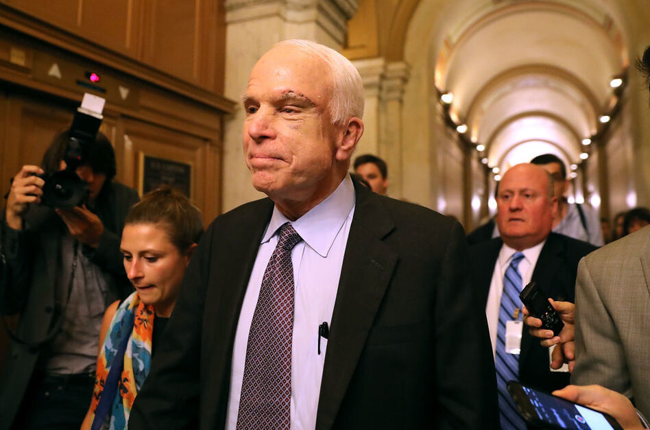 Sen. John McCain says defeat of the Republican plan to repeal the Affordable Care Act is a chance for a fresh start. (Justin Sullivan/Getty Images)