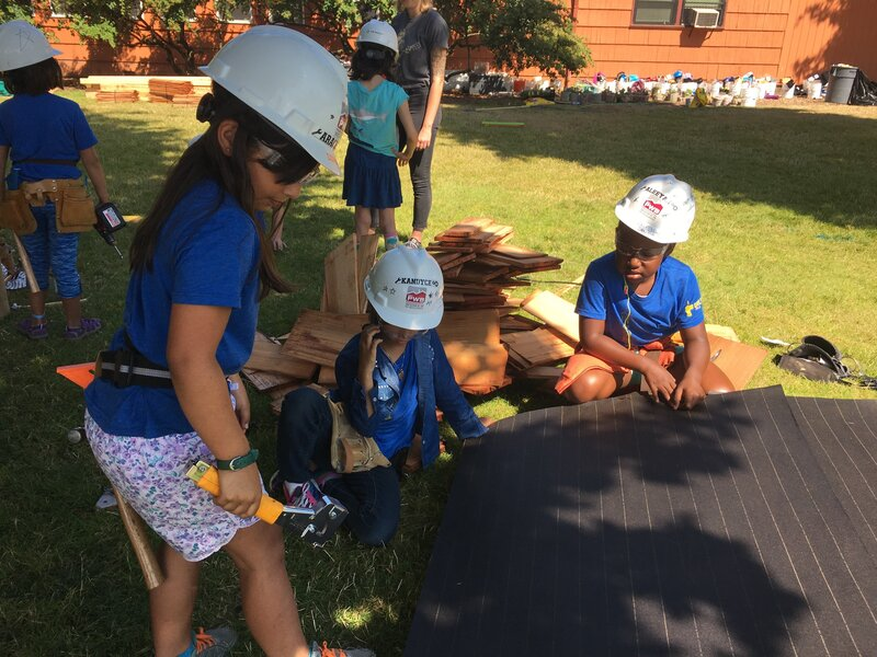 At Summer Camp, Girls Build Sandboxes And Confidence In