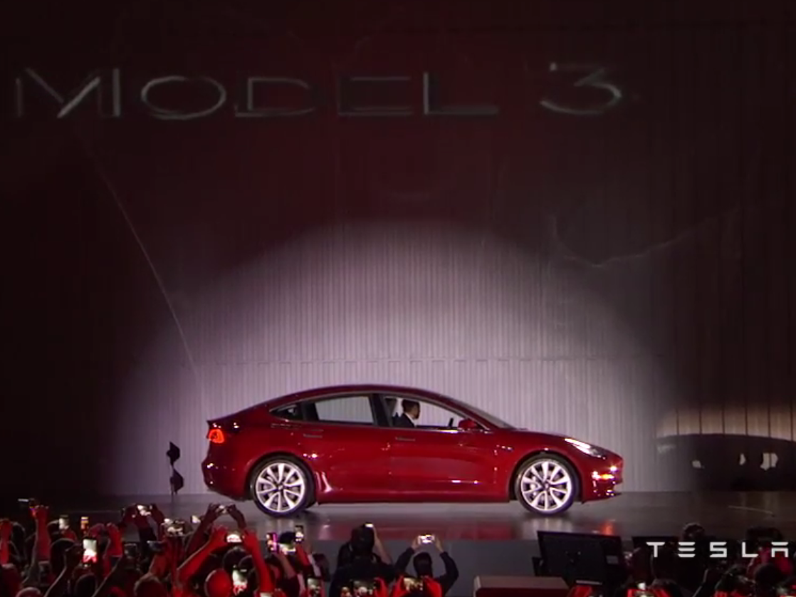 Elon Musk unveils specs on new Tesla Model 3 electric vehicle