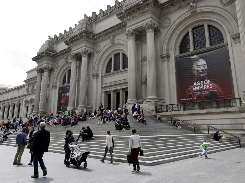 The Metropolitan Museum of Art in New York City has turned over an ancient vase to authorities after a warrant was issued for its seizure. Above, the museum in May. (Richard Drew/AP)