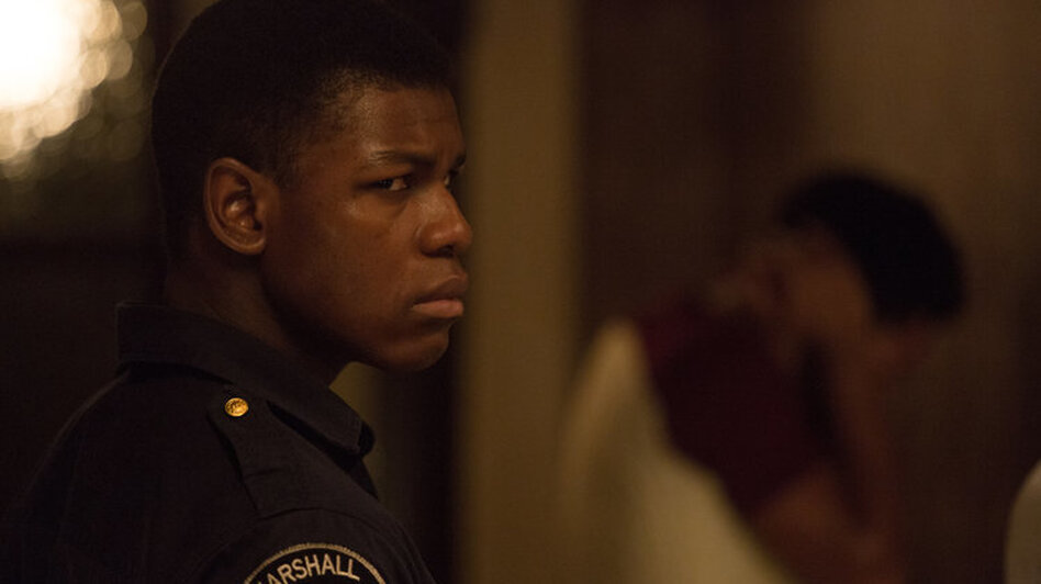 John Boyega plays security guard Melvin Dismukes in <em>Detroit.</em> (Francois Duhamel/Annapurna)