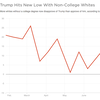 Trump Hits New Low With White Non-College Voters
