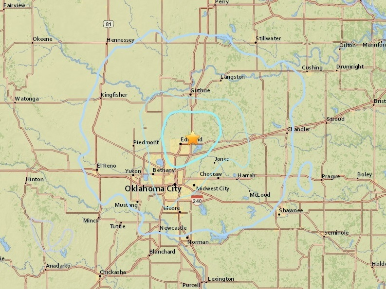 Edmond quake downgraded slightly