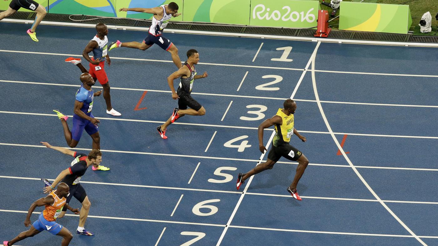 Usain Bolt Sprintgeschwindigkeit