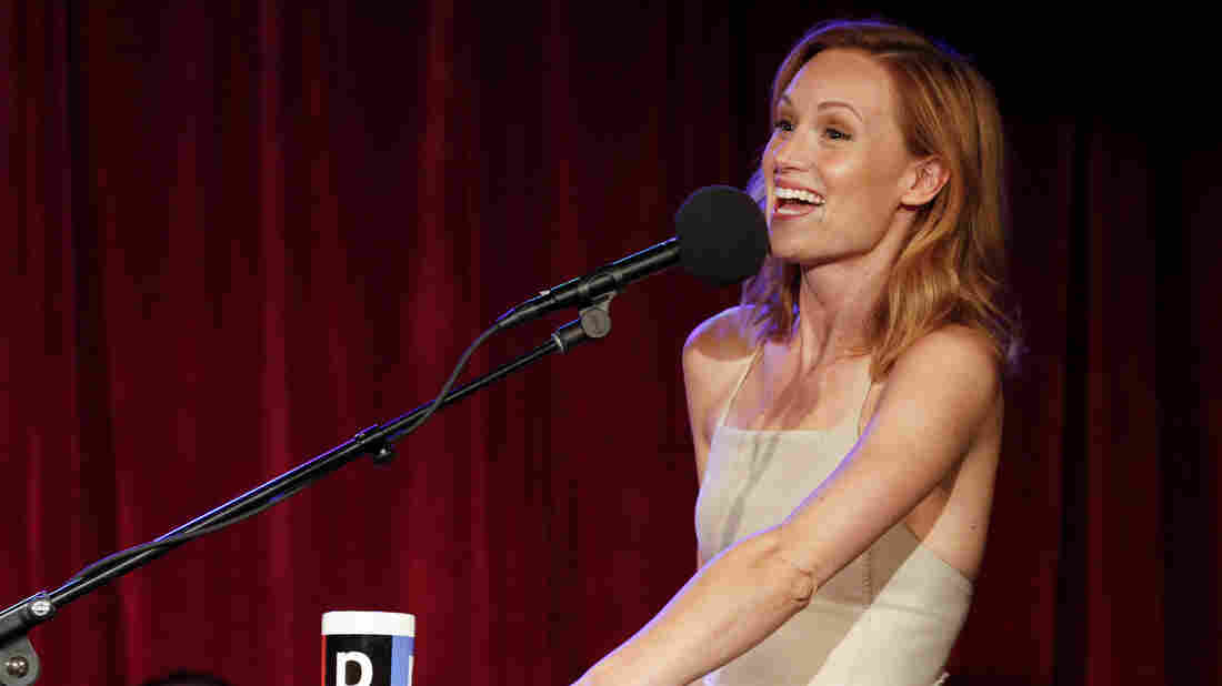 Kerry Bishé on Ask Me Another at The Bell House in Brooklyn, New York.