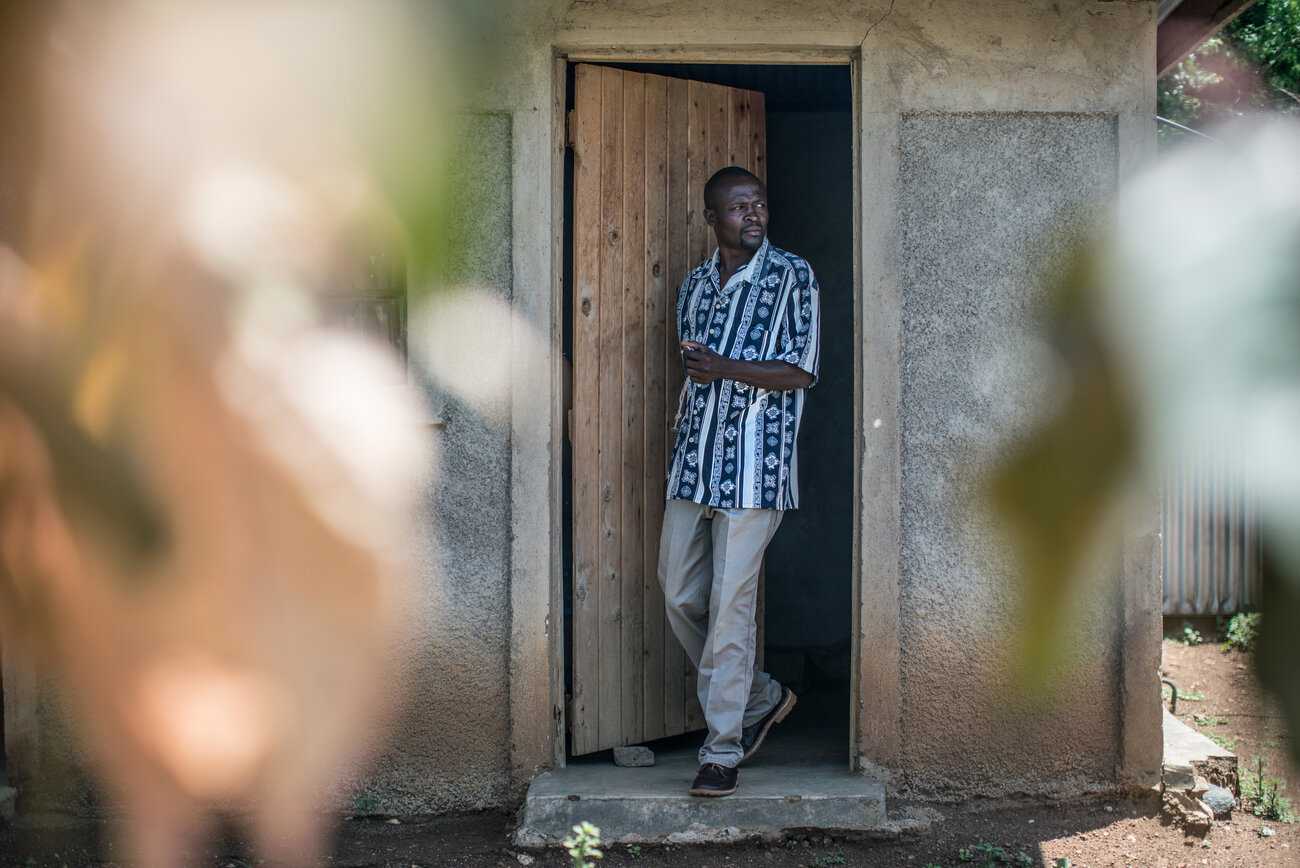 All his life, Denis Otieno has been striving to climb out of poverty only to find himself blocked by a lack of funds.     (Nichole Sobecki/for NPR)