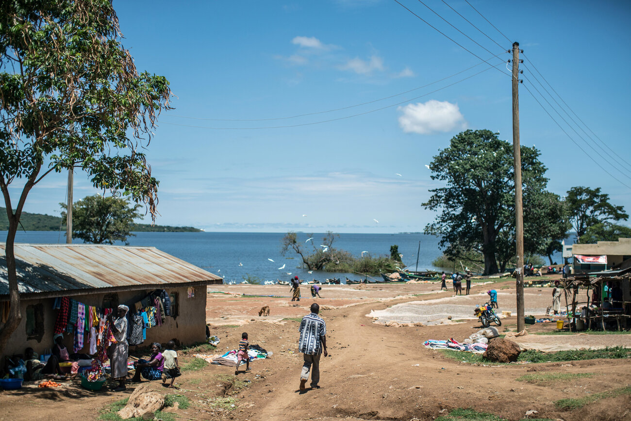 This hamlet, near Lake Victoria, is the first to participate in the cash distribution experiment. GiveDirectly plans to expand the payouts to 200 villages and compare them to 100 other villages that don't get the cash.     (Nichole Sobecki/for NPR)