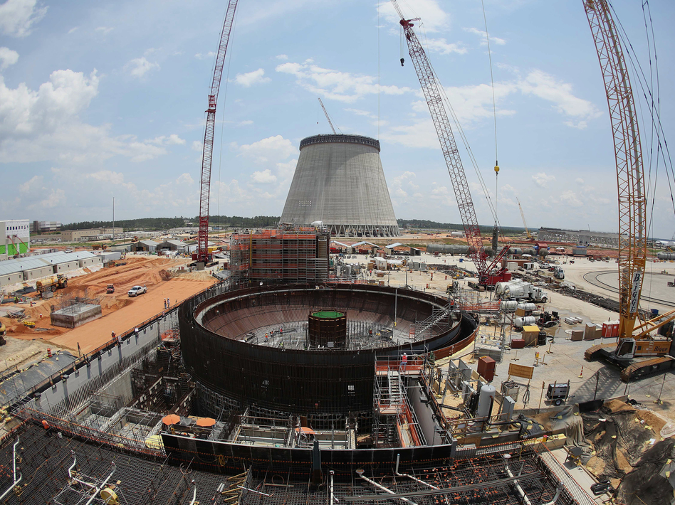 This June 13, 2014 file photo shows construction on a new nuclear reactor at Plant Vogtle power plant in Waynesboro, Ga. (John Bazemore/AP)