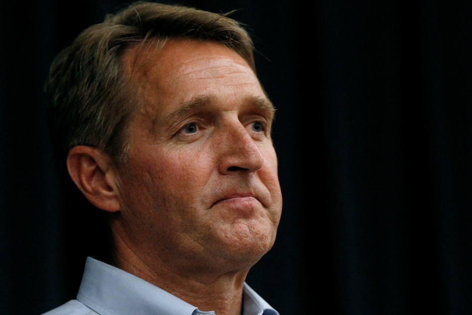 Sen. Jeff Flake, R-Ariz., wrote a new book, in secret, criticizing President Trump and Republicans who have not stood up to him in defense of conservative values. (Ralph Freso/Getty Images)