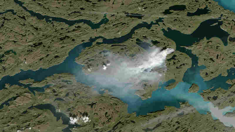 PHOTOS: A 'Massive' Wildfire Is Now Blazing In Greenland