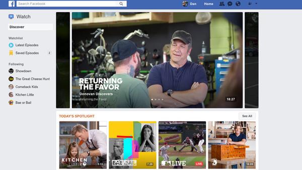The new Watch platform is Facebook