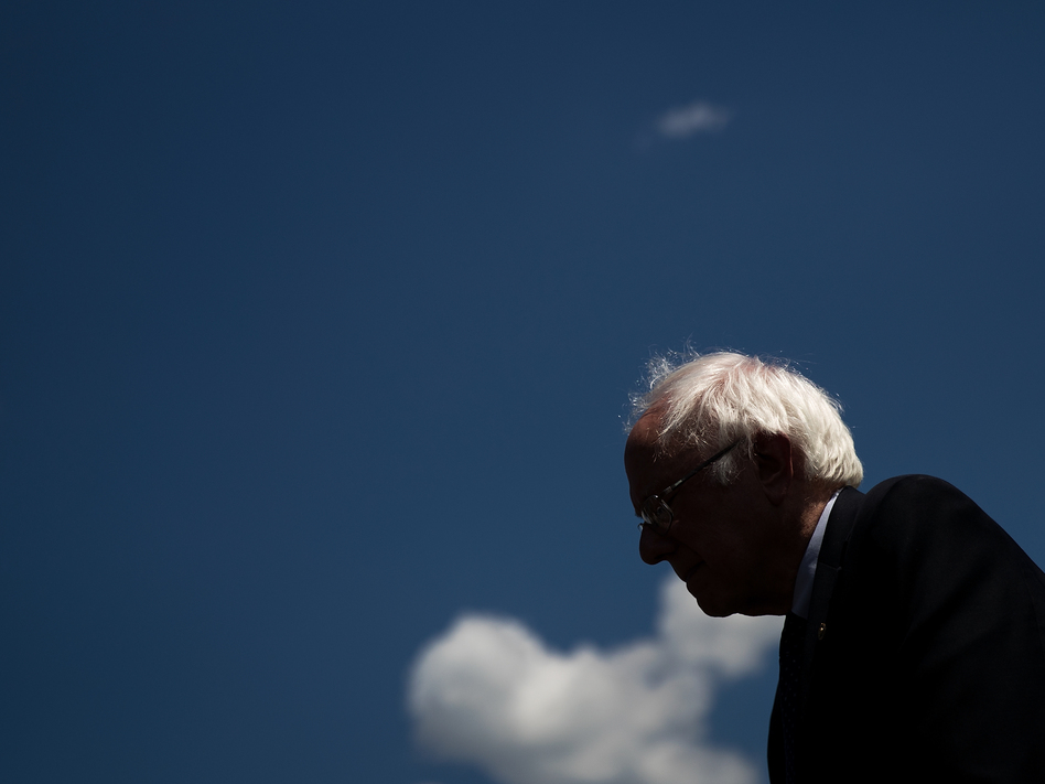Sen. Bernie Sanders, I-Vt., speaks about health care on Capitol Hill on June 26. Single-payer was a major policy plank of Sanders' 2016 presidential campaign. (Drew Angerer/Getty Images)