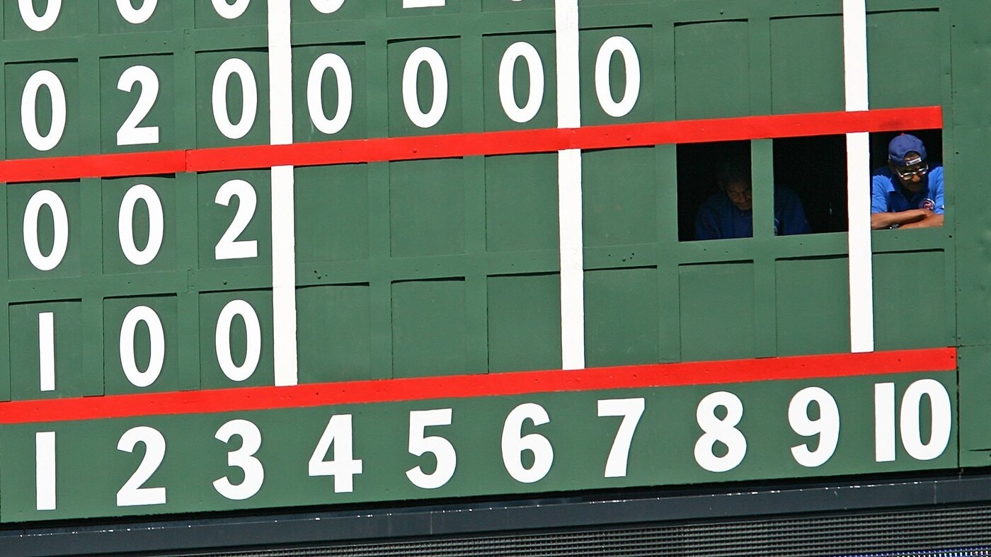 Chicago Cubs Wrigley Field The Scoreboard That Keeps Baseball S Beginnings Alive Npr