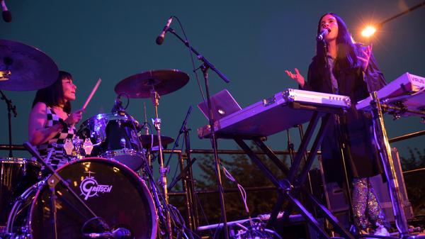 Javiera Mena performs live at Nuevofest 2017 in Philadelphia, PA.