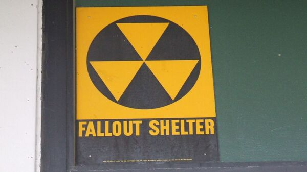 Fallout shelter signs, like this one, still hang on buildings around the U.S.
