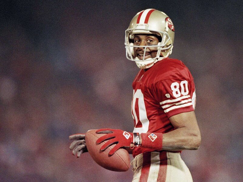 best service d872f 4551e Not My Job: Football Hall Of Famer Jerry Rice Gets Quizzed ...