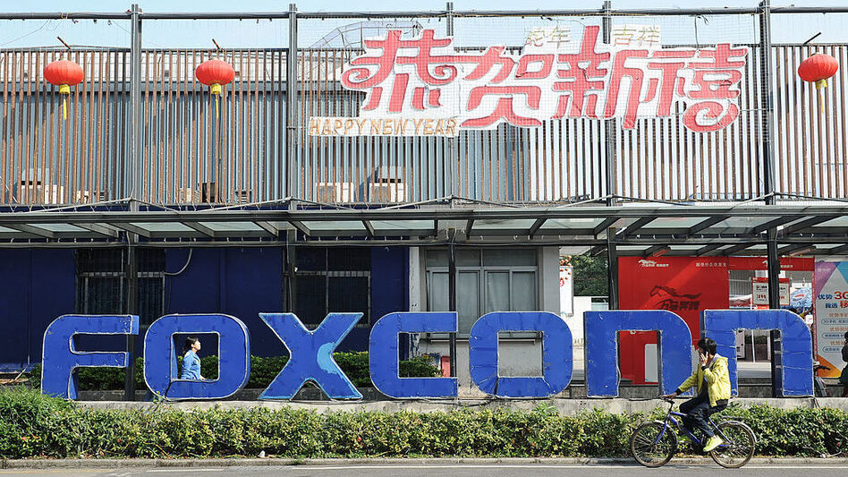 Wisconsin lawmakers are considering a $3 billion package of incentives to encourage Taiwanese electronics company Foxconn, which has had a presence in southern China, to build a factory in the state. (Stringer/AFP/Getty Images)