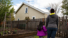 Michelle Labra and her daughter, Daphne, live in an accessory dwelling unit (ADU) in their landlord's backyard. Portland has among the most permissive rules for ADUs in the country. Last year, the city issued building permits for about one a day.