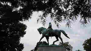 Sitting 26 Feet High Atop A Horse, Gen. Lee Becomes A Lightning Rod For Discontent