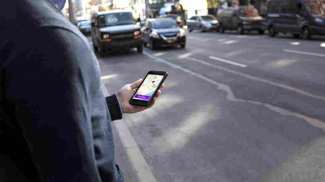 Uber uses GPS