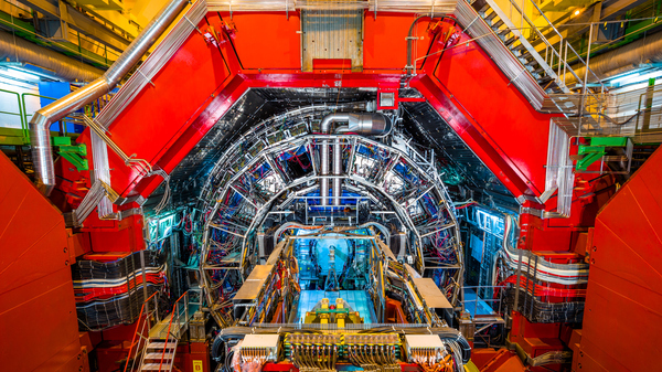 Part of the LHC at CERN.