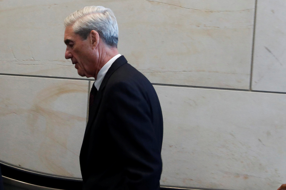 Special counsel Robert Mueller departs after briefing the House Intelligence Committee on Capitol Hill on June 20. (Aaron Bernstein/Reuters)