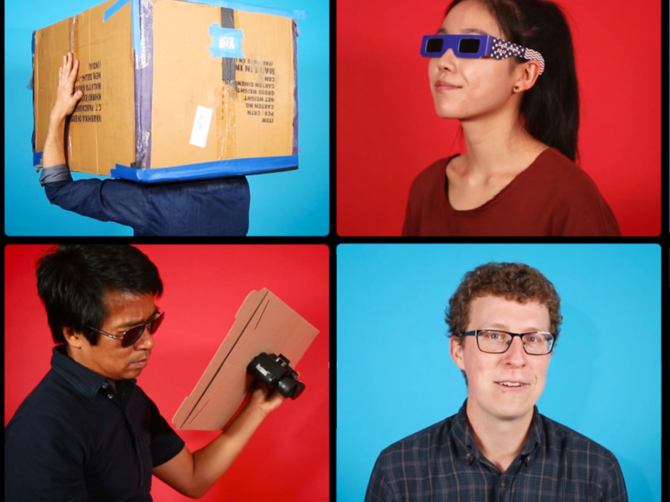 Watching the eclipse? Save your eyeballs — rig up a sweet viewing set-up with some help from this video. (Ryan Kellman/NPR's Skunk Bear)