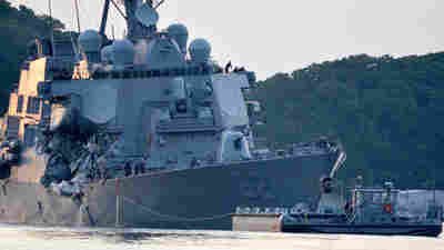 USS Fitzgerald Leaders Punished; Crew Is Praised After Collision With Cargo Ship