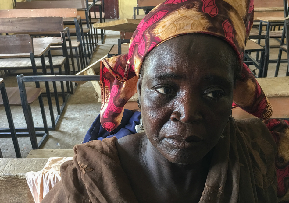 Zainabu Hamayaji went to extreme lengths to protect her family from being abducted by Boko Haram. (Ofeibea Quist-Arcton/NPR)