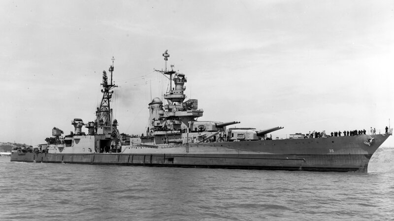 Wreckage Of USS Indianapolis, Sunk By Japanese In WWII