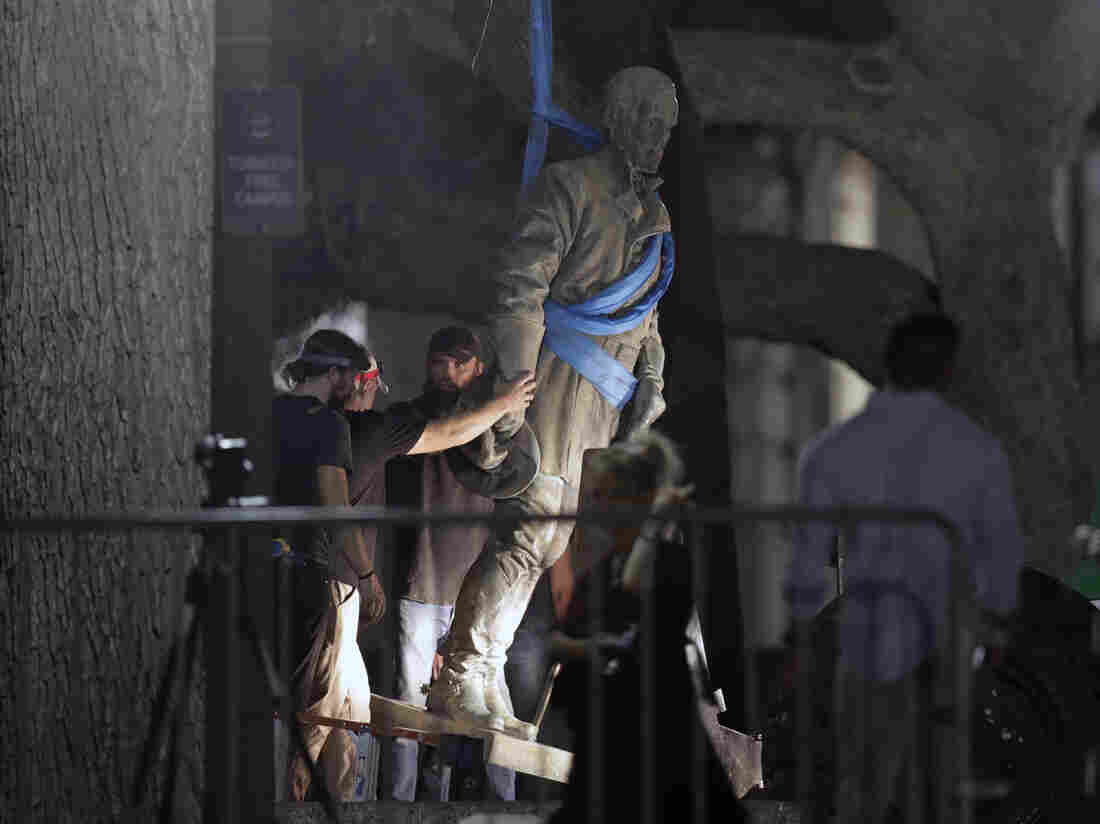 Charlottesville Officials Cover Confederate Statues
