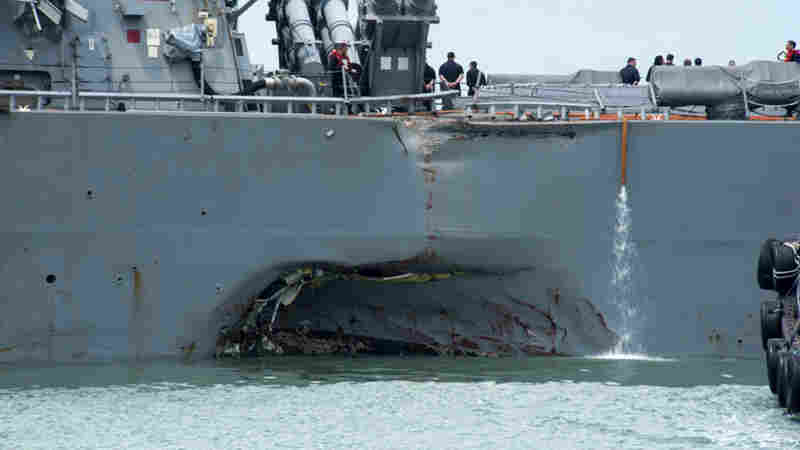 Search For 10 Missing Launched Off Singapore After U.S. Destroyer, Tanker Collide