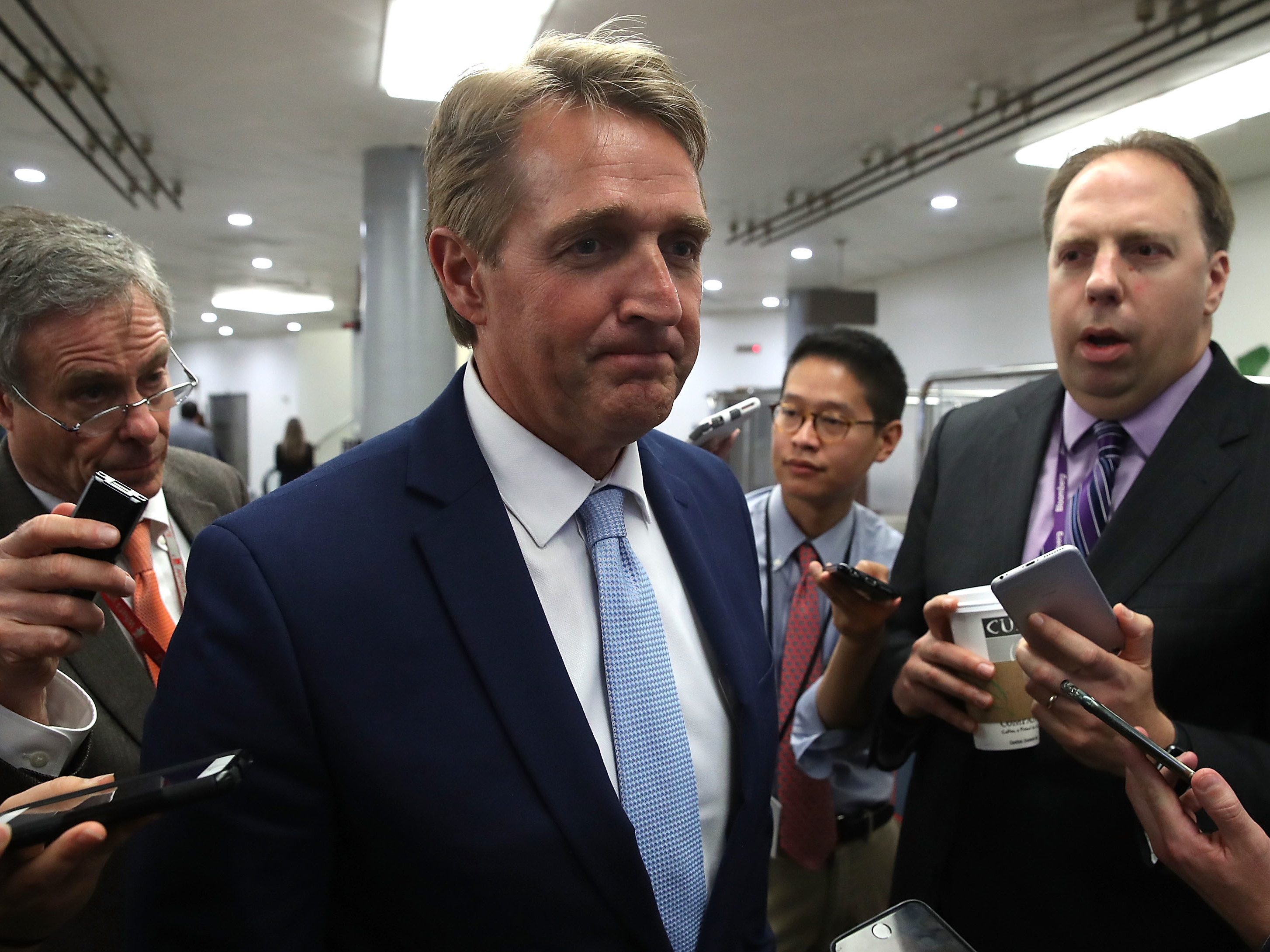 Trump goes after the Senate, Jeff Flake and media on Twitter