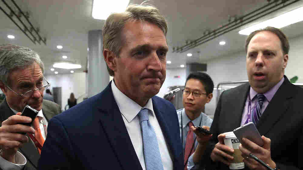 Trump's Visit To Arizona Is A Headache For Trump GOP Critic, Sen. Jeff Flake